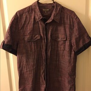 Guess Short Sleeved Button Down